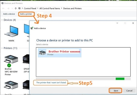 How to install Brother Printer to laptop