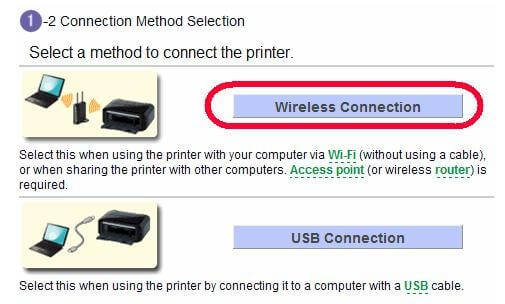 if you are setting up your printer on your network initially, a  step-by-step supervision of the wireless setup is incorporated to the  installation routine