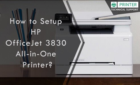 Setup HP Officejet 3830 All-in-One Printer
