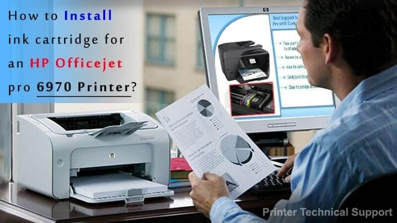 How To Install Ink Cartridge For An Hp Officejet Pro 6970 Printer
